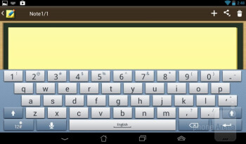 On-screen keyboard - Asus MeMO Pad Review