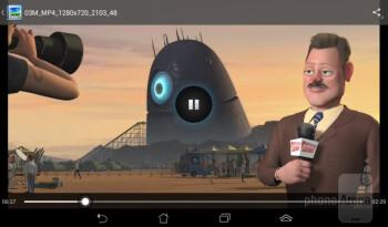 Watching videos - Asus MeMO Pad Review