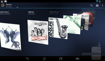 The Google Play Music app - Asus MeMO Pad Review