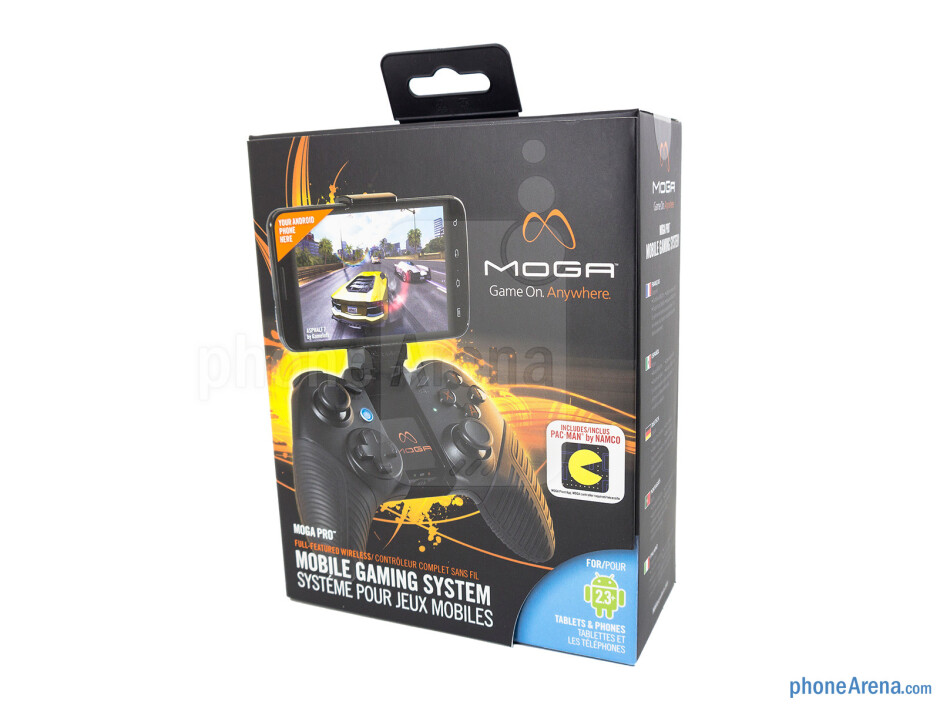 Box and contents - Moga Pro Review