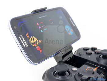 We're able to place our smartphones in the adjustable Moga Arm - Moga Pro Review