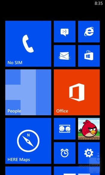 Home screen and organizer - Nokia Lumia 720 Review