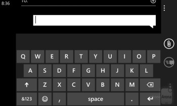 The on-screen keyboard is a joy to use - Nokia Lumia 720 Review