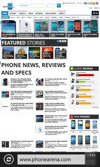 Internet Explorer - Nokia Lumia 720 Review