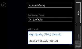 The camera interface of the Lumia 720 - Nokia Lumia 720 Review