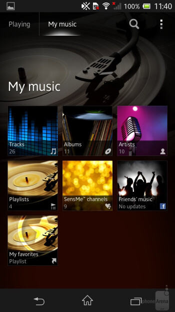 The Walkman application is probably one of the nicest stock music players we've tried recently - Sony Xperia ZL Review