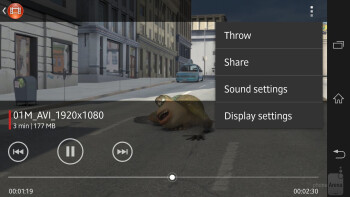 The stock video player handles all kinds of videos without a hitch - Sony Xperia ZL Review
