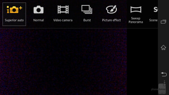 Camera interface of the Sony Xperia ZL - Sony Xperia ZL Review