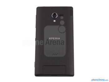 The textured soft touch back plate provides good grip - Sony Xperia ZL Review