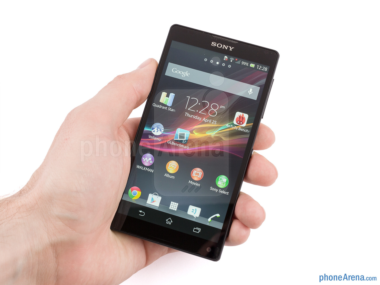 Using the Xperia ZL would have