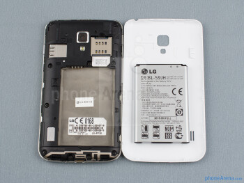 Battery compartment - Back - LG Optimus L7 II Review