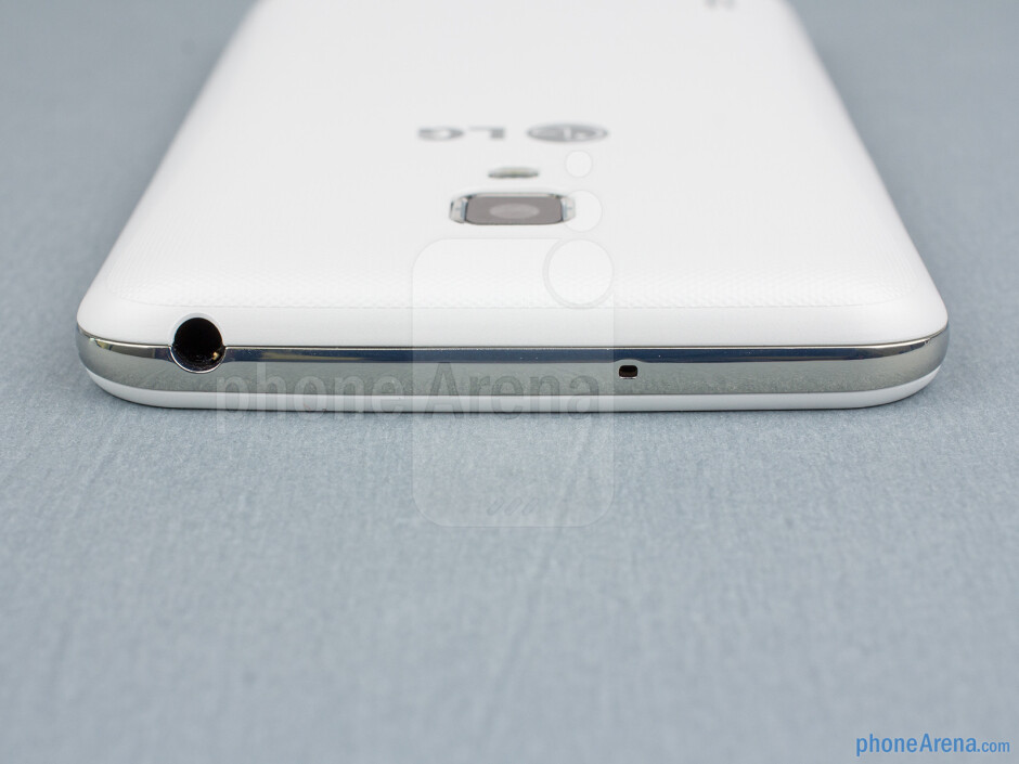 3.5mm jack (top) - The sides of the LG Optimus L7 II - Back - LG Optimus L7 II Review