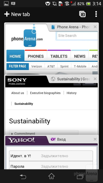 The Chrome web browser works like a charm - Sony Xperia SP Review