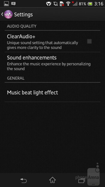 The Walkman music player is pretty awesome - Sony Xperia SP Review