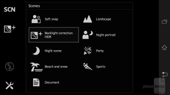 Camera interface of the Sony Xperia SP - Sony Xperia SP Review