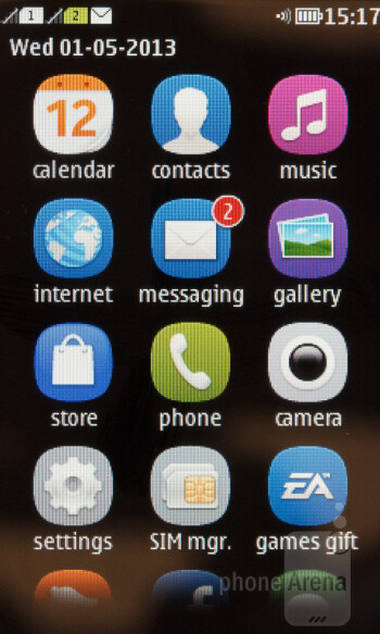 App drawer - Interface of the Nokia Asha 310 - Nokia Asha 310 Review