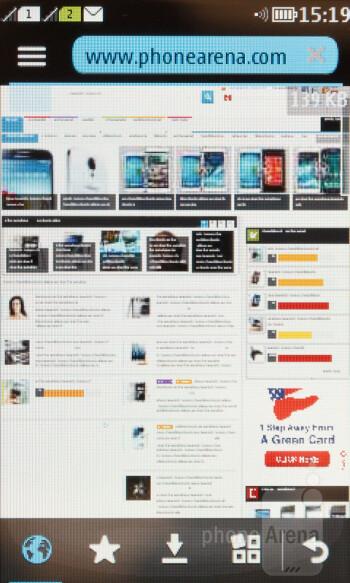 Web browser of the Nokia Asha 310 - Nokia Asha 310 Review