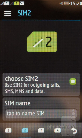 SIM card manager - Nokia Asha 310 Review