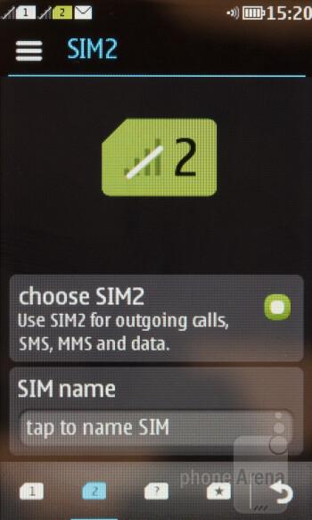 SIM card manager - Nokia Asha 310 Review