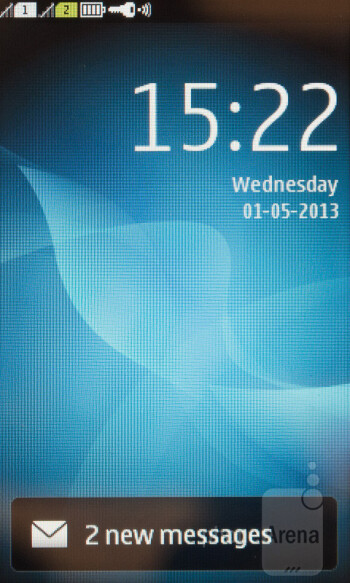 Lockscreen - Interface of the Nokia Asha 310 - Nokia Asha 310 Review