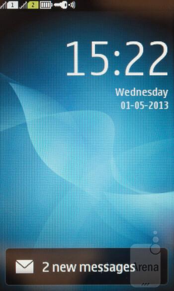 Lockscreen - Interface of the Nokia Asha 310 - Nokia Asha 310 Review