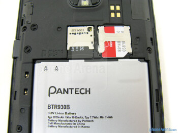 Battery compartment - The sides of the Pantech Perception - Pantech Perception Review