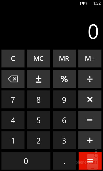 Calculator - Nokia Lumia 928 Review