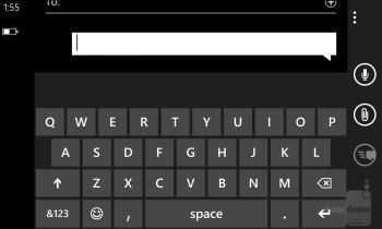 On-screen keyboards on the Nokia Lumia 928 - Nokia Lumia 928 vs Samsung Galaxy S4