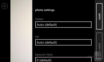 Camera interface of the Nokia Lumia 928 - Nokia Lumia 928 vs Samsung Galaxy S4