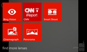 Camera interface of the Nokia Lumia 928 - Nokia Lumia 928 vs Apple iPhone 5