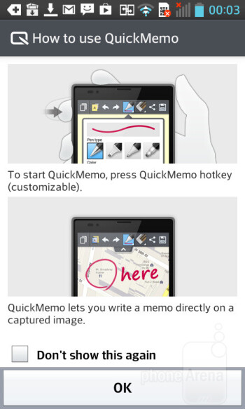 QuickMemo - LG Optimus L5 II Review