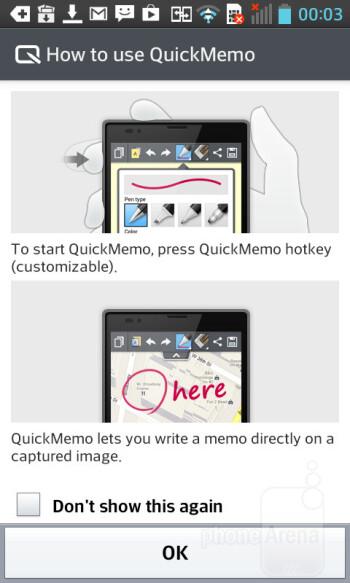 QuickMemo - LG Optimus L5 II Review
