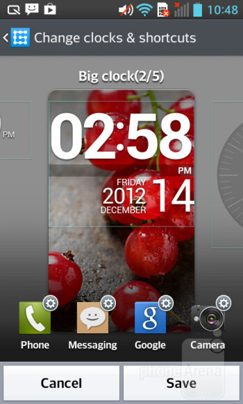Lock screen - Android 4.1.2 comes running on the LG Optimus L5 II - LG Optimus L5 II Review