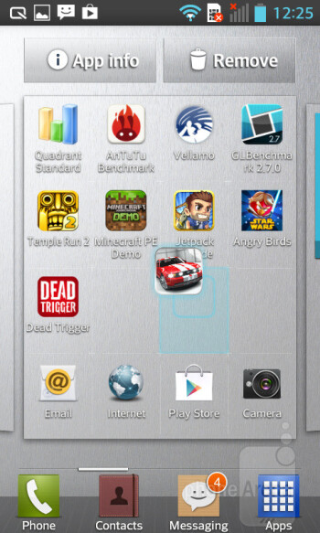 Android 4.1.2 comes running on the LG Optimus L5 II - LG Optimus L5 II Review