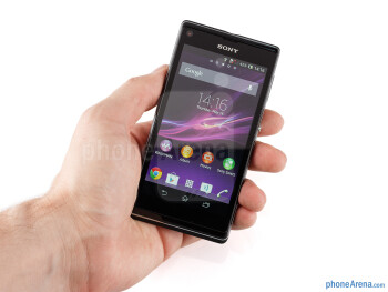 The Sony Xperia L feels solidly built - Sony Xperia L Review