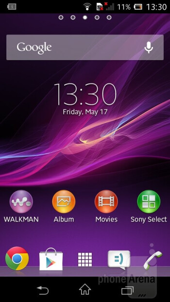 The Sony Xperia L features Android 4.1 Jelly Bean with Sony's own skin on top - Sony Xperia L Review