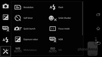 Camera interface - Sony Xperia L Review