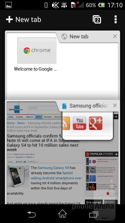 how to clear browser history on chrome on sony xperia