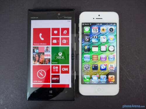 Nokia Lumia 928 vs Apple iPhone 5