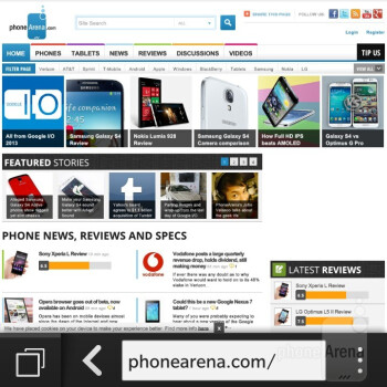 Browsing the web - BlackBerry Q10 Review