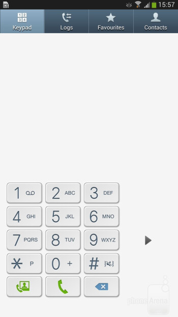 The onscreen keypad and the split view feature - Samsung Galaxy Mega 6.3 Preview