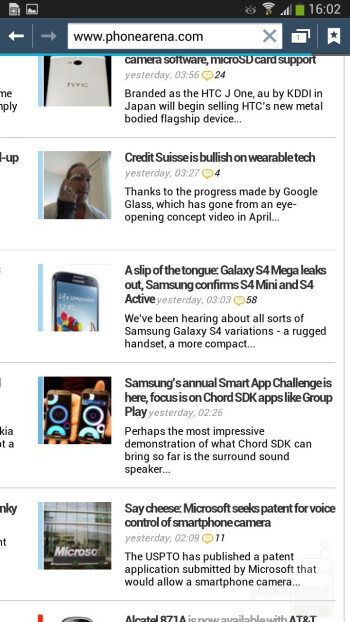Browsing the web on the Galaxy Mega 6.3 - Samsung Galaxy Mega 6.3 Preview