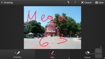 The built-in image editor - Samsung Galaxy Mega 6.3 Preview