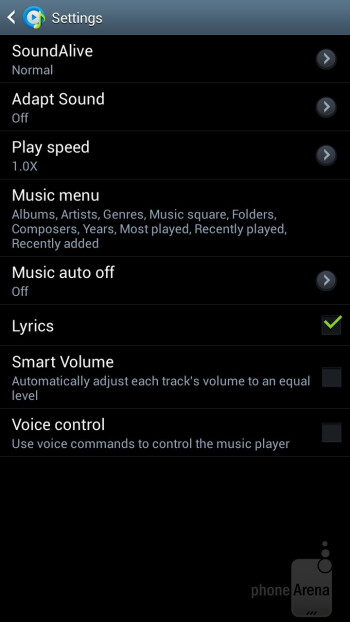 Music player of the Galaxy Mega 6.3 - Samsung Galaxy Mega 6.3 Preview