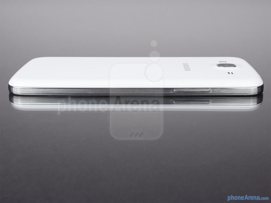 Left - The sides of the Samsung Galaxy Mega 5.8 - Samsung Galaxy Mega 5.8 Review