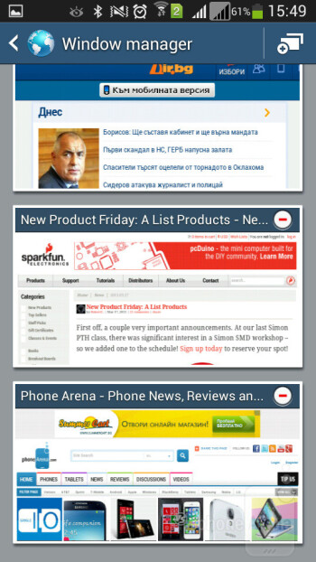 Browsing the web on the Galaxy Mega 5.8 - Samsung Galaxy Mega 5.8 vs Samsung Galaxy Note II