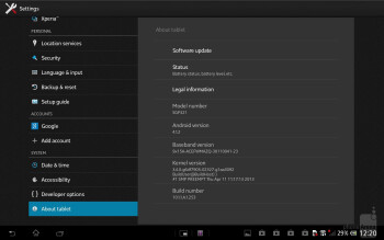 Sony's tablet Xperia UI is painted all over Android 4.1.2 on the Tablet Z - Sony Xperia Tablet Z Review