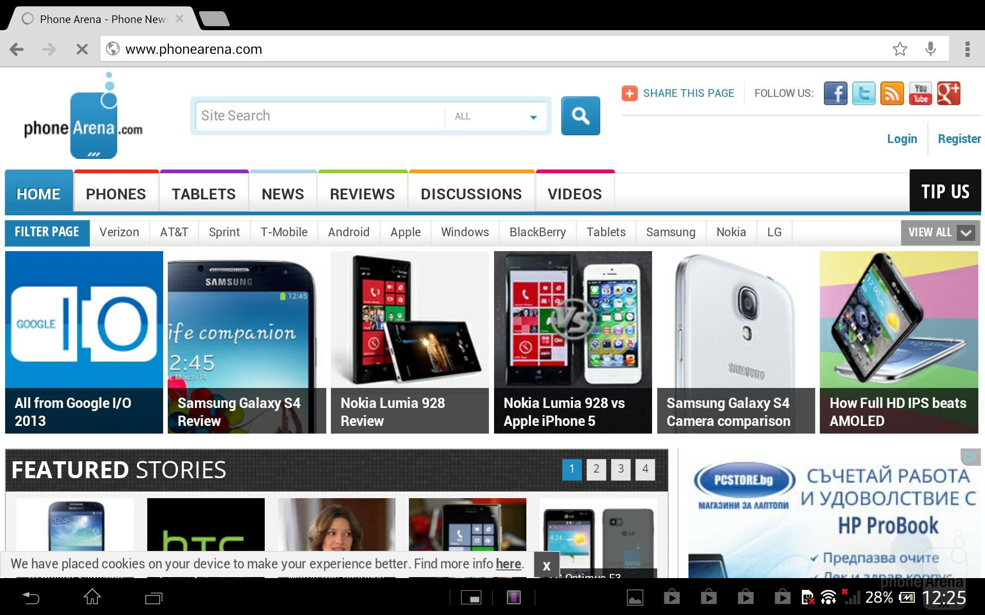 how to set chrome as default browser on android tablet