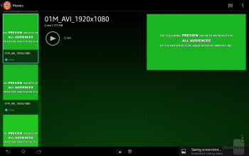 The picture and video gallery app - Sony Xperia Tablet Z Review