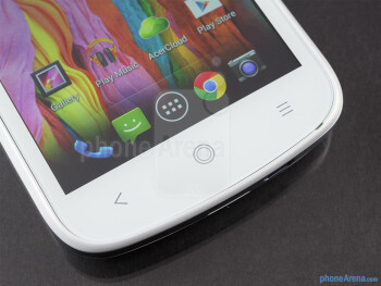Capacitive navigation keys - Acer Liquid E2 Review